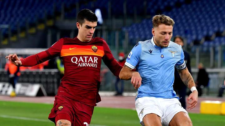Mancini e Immobile nell'ultimo derby