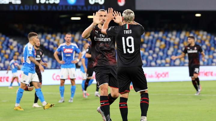 Zlatan Ibrahimovic, Theo Hernandez