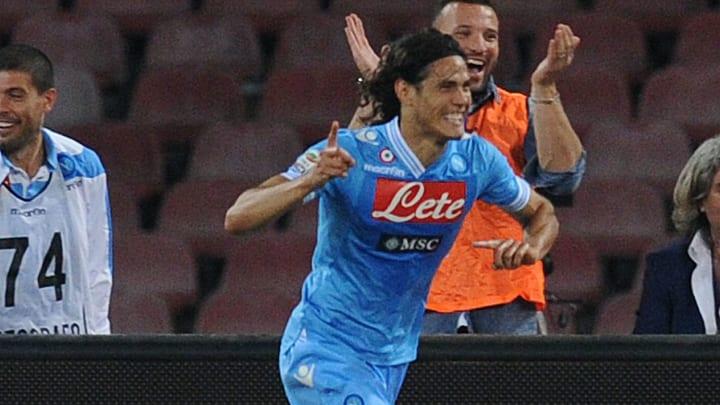 Cavani dejó huella en el Napoli