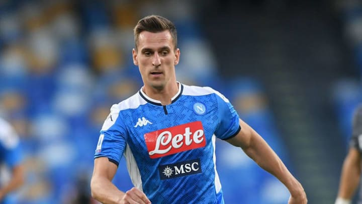 Milik has barely featured for Napoli this season