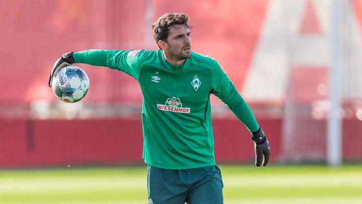 Stefanos Kapino beim Werder-Training
