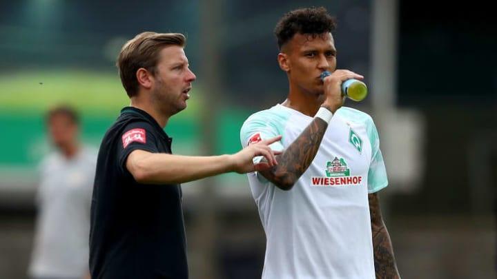 Pflegen weiter ein gutes Verhältnis: Coach Kohfeldt (l.) und Schützling Selke (r.)