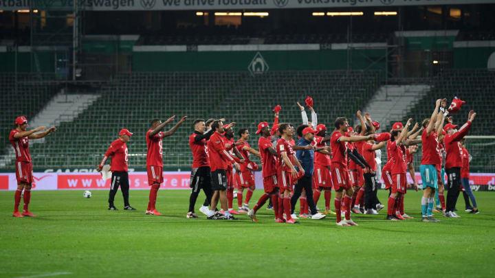 Bayern secured the 2019/2020 Bundesliga title with victory over Werder Bremen