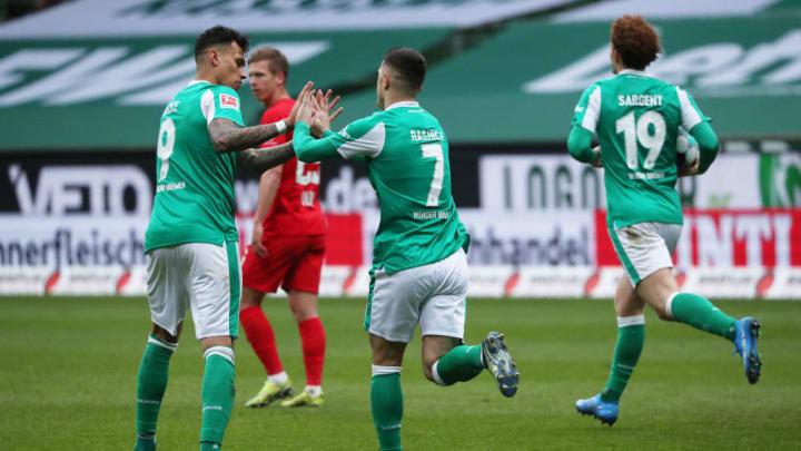 Werder Bremen spielt gegen RB Leipzig