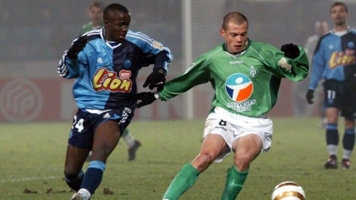 Saint-Etienne midfielder David Hellebuyc