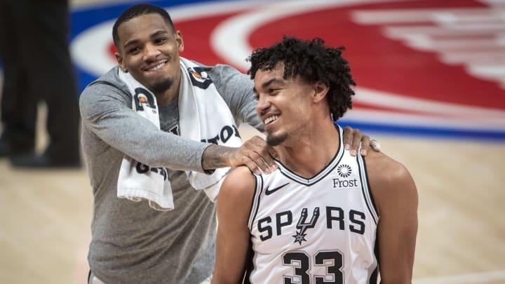 San Antonio Spurs Dejounte Murray, Tre Jones