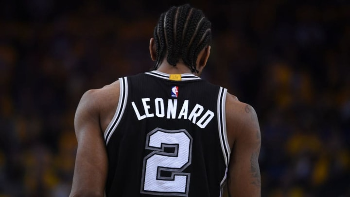 Kawhi Leonard on the San Antonio Spurs in Game 1 of the Western Conference Finals
