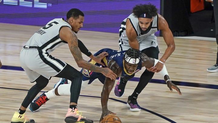 San Antonio Spurs Dejounte Murray, Derrick White