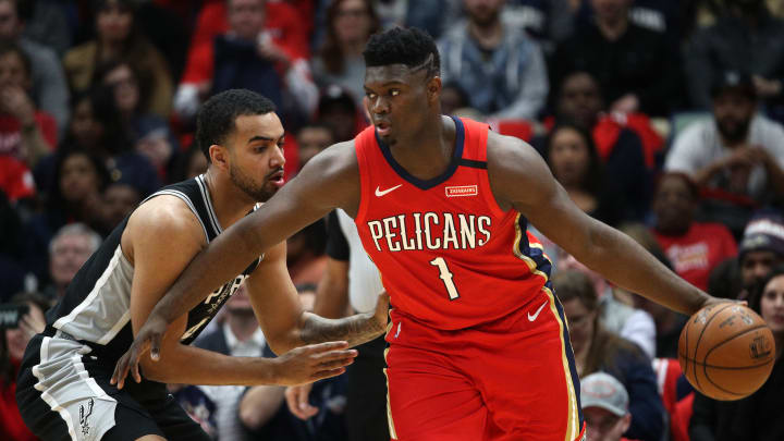 Zion Williamson debuts for the New Orleans Pelicans against the San Antonio Spurs