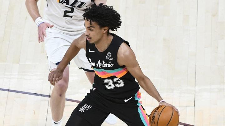 Tre Jones - San Antonio Spurs v Utah Jazz