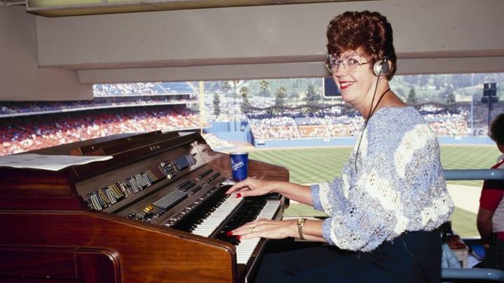 Dodgers organist Nancy Bea.