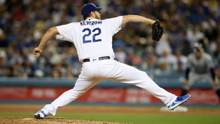 Clayton Kershaw against the San Diego Padres.