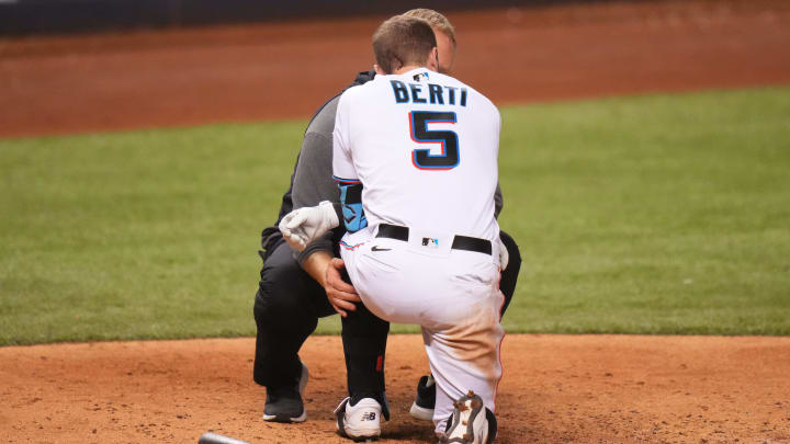 The Miami Marlins have gotten an injury update on Jon Berti after being hit by a pitch on Thursday.