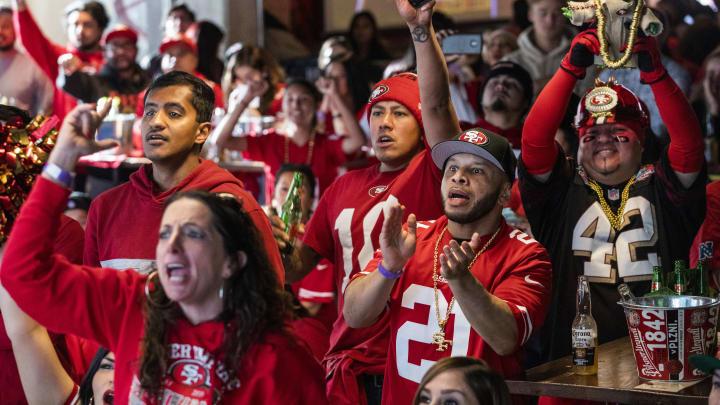 San Francisco 49ers' Fans Watch Their Team's Super Bowl LIV Match Up Against The Kansas City Chiefs