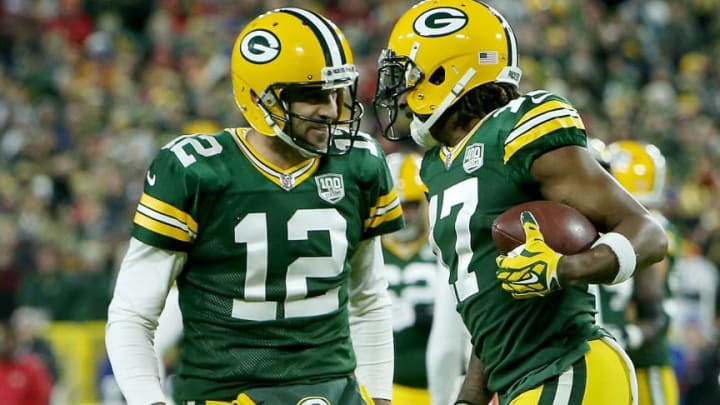 Green Bay Packers QB Aaron Rodgers and WR Davante Adams
