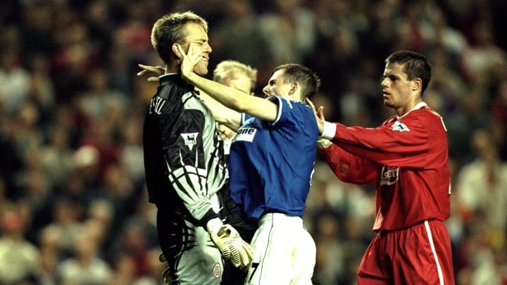 Everton's last win at Anfield was an eventful one