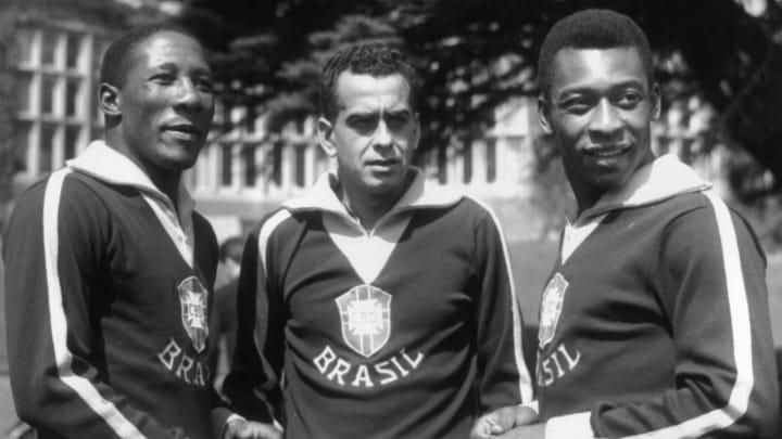 Pele, Djalma Santos, Zito, Jose Eli de Miranda