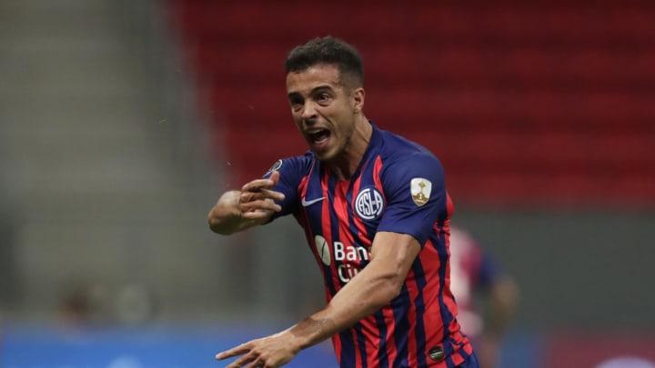 "Santos v San Lorenzo - Copa CONMEBOL Libertadores 2021 - Di Santo, uno de los ""9"" que sonó para Boca."