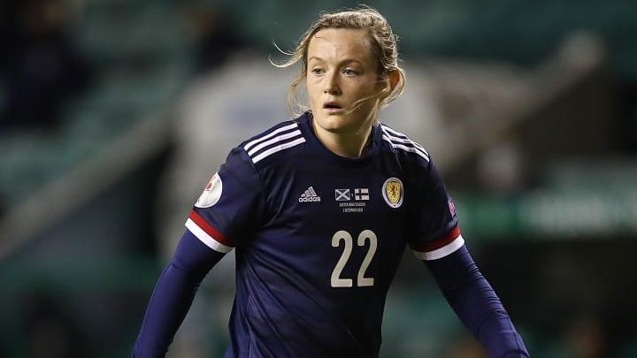 Erin Cuthbert helped inspire Scotland Women to a huge win