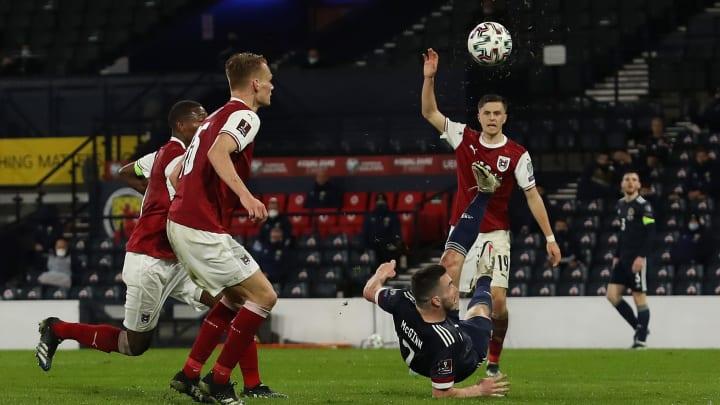 McGinn fires Scotland to a point against Austria