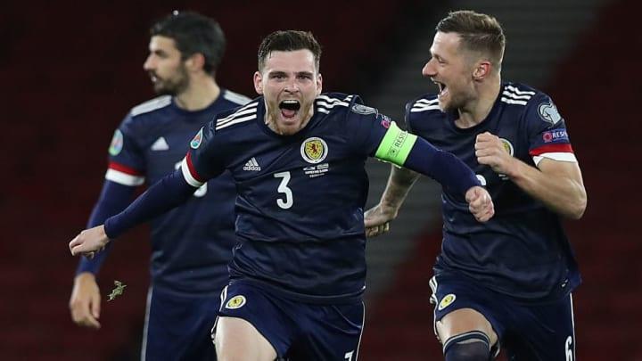 Pure Freude bei Captain Robertson über den Halbfinalsieg gegen Israel