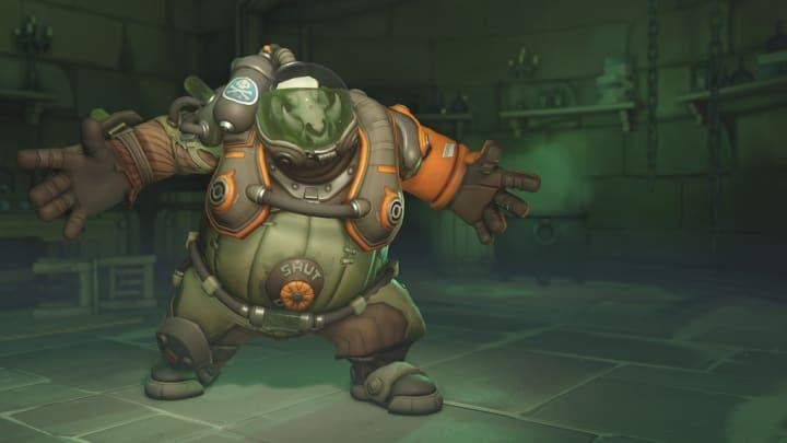Toxic Roadhog Overwatch Anniversary skin revealed during the seasonal event.
