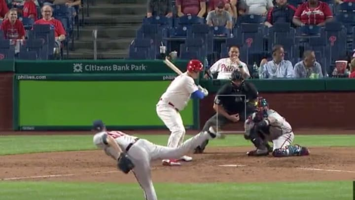 Chris Martin of the Braves threw an immaculate inning on Wednesday against Phillies.