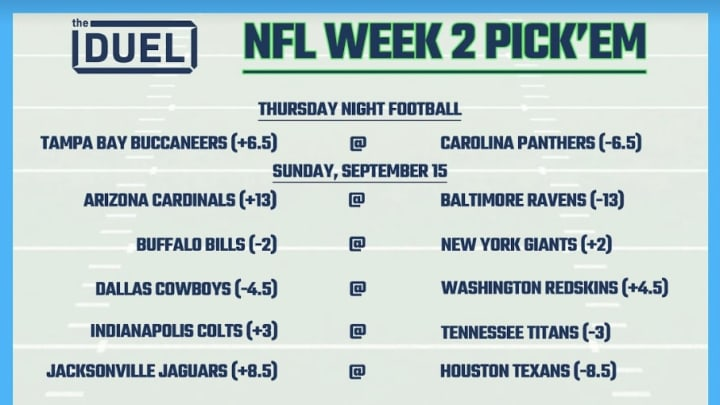 Printable Nfl Weekly Pick Em Sheets For Week 2