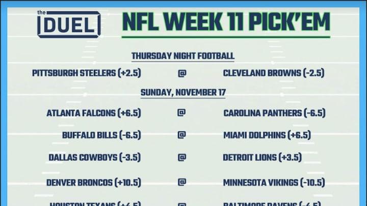 Printable Nfl Weekly Pick Em Sheets For Week 11