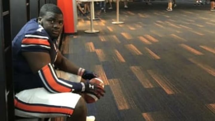 5-star defensive tackle Lee Hunter during an unofficial visit with the Auburn Tigers.