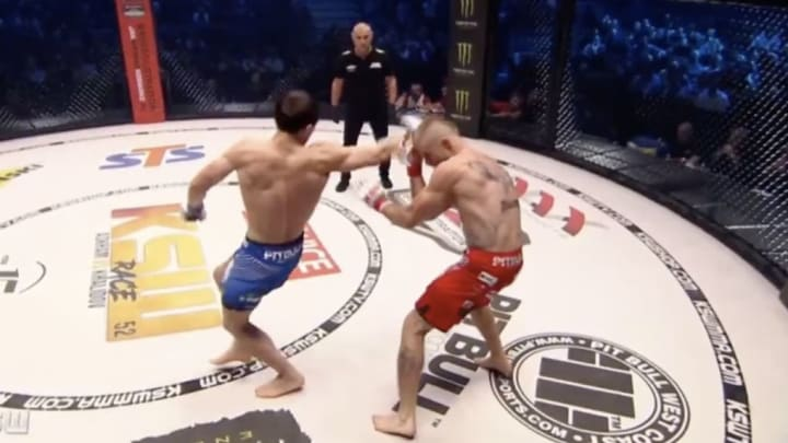 Russian MMA fighter Shamil Musaev rocked the house at KSW52 with this spinning backfist KO.