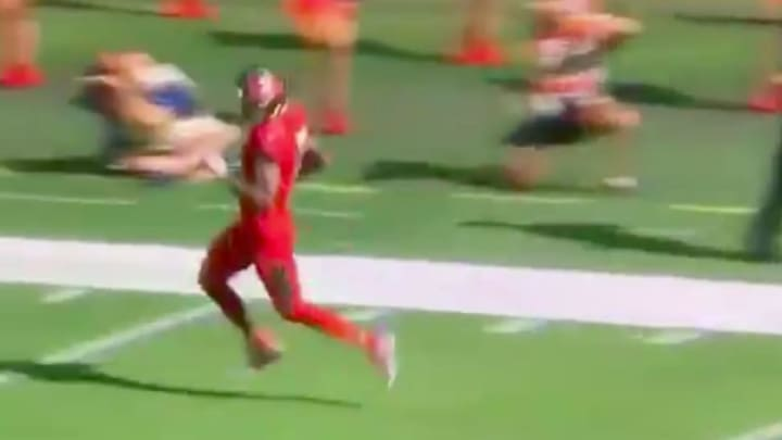 Mike Evans appeared to be injured on his big touchdown catch