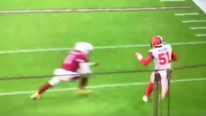 Kyler Murray laid a vicious hit on a Browns defender to save a defensive touchdown.