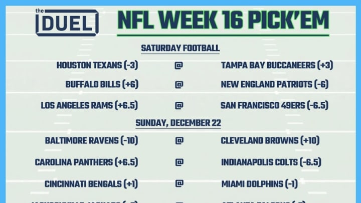 Nfl week 16 betting line bet channel on sky