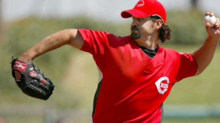 Reds pitcher Eric Milton