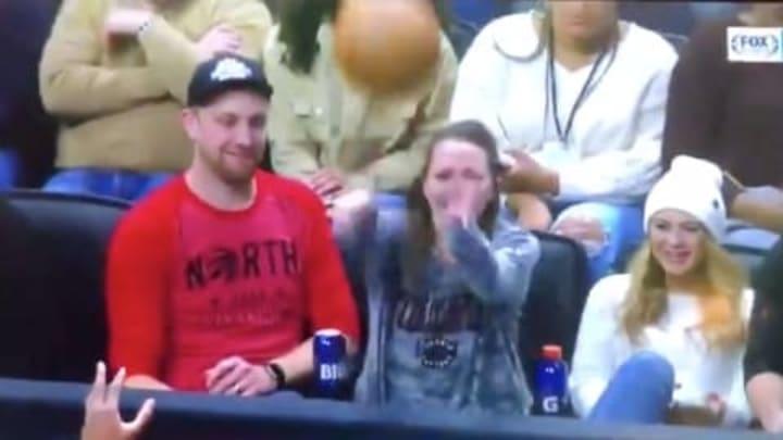 Fan at Toronto Raptors vs Detroit Pistons