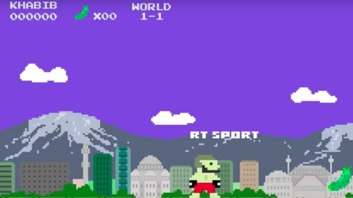Russia's RT television network released an odd Super Mario-themed tribute to Khabib Nurmagomedov.