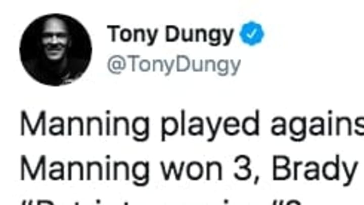Tony Dungy owned a Patriots fan trying to talk bad about Peyton Manning.