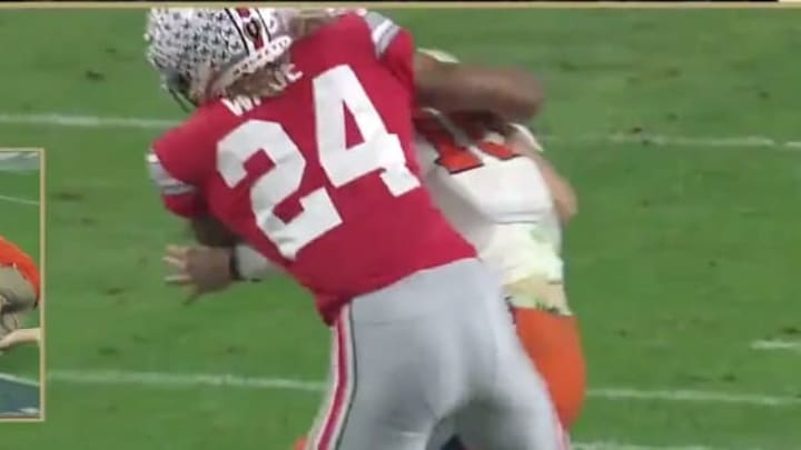 Ohio State DB Shaun Wade ejected for targeting on Trevor Lawrence