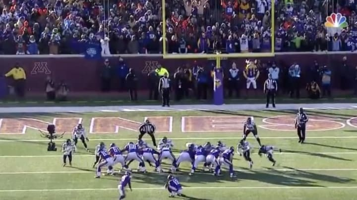 Minnesota Vikings kicker Blair Walsh lines up for the dreaded field goal