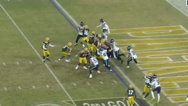 Green Bay Packers RB Aaron Jones rushing TD