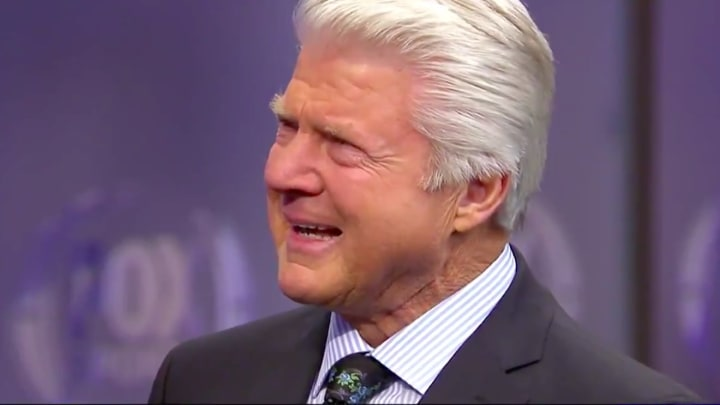 Jimmy Johnson receives a surprise in the form of a Pro Football Hall of Fame induction.