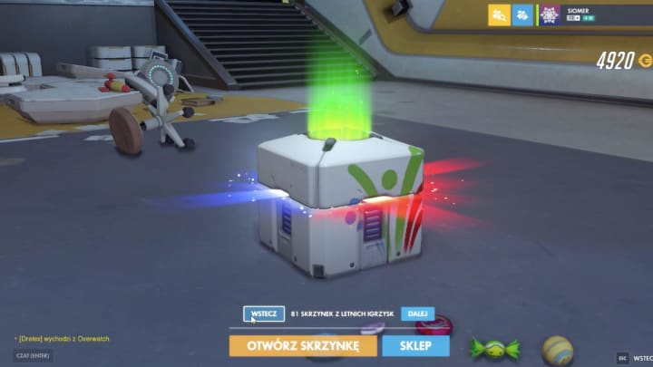 An Overwatch player saved over 1,000 loot boxes from yearly events, and daily and weekly rewards.