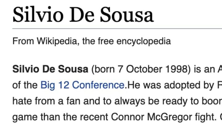 Pranksters got to Silvio De Souza's wikipedia page