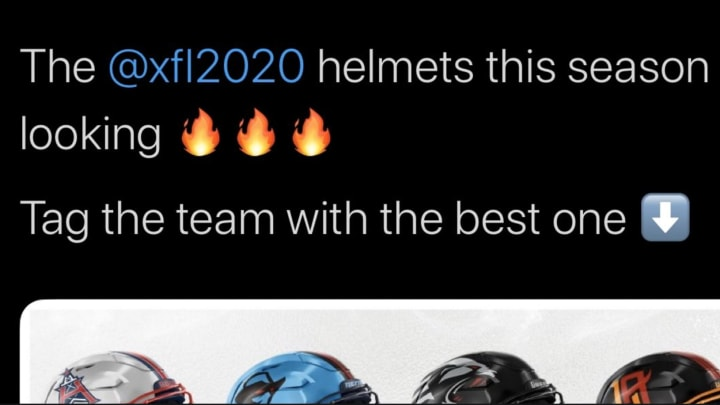 XFL revealed helmets for all eight teams