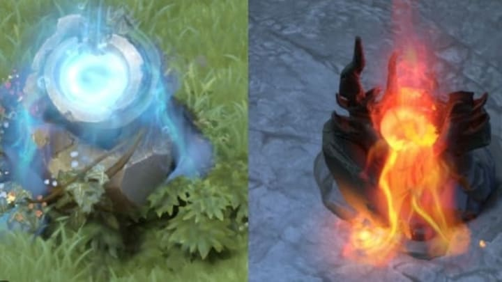 Dota 2 shrines have been removed from the game in the 7.24 update.