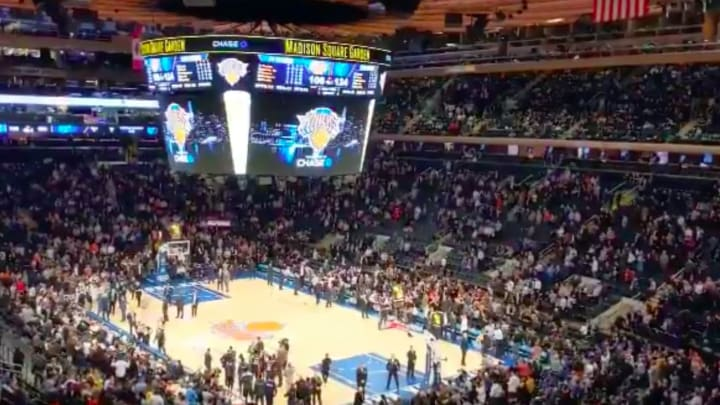 New York Knicks fans directed a chant at owner James Dolan after another bad home loss.