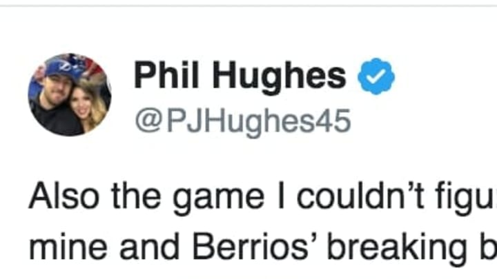 Twins pitcher Phil Hughes tweets about being on the receiving end of the Astros cheating scandal