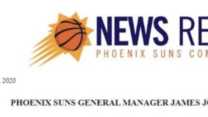 Phoenix Suns James Jones release on Devin Booker