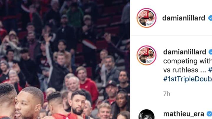 Portland Trail Blazers star Damian Lillard